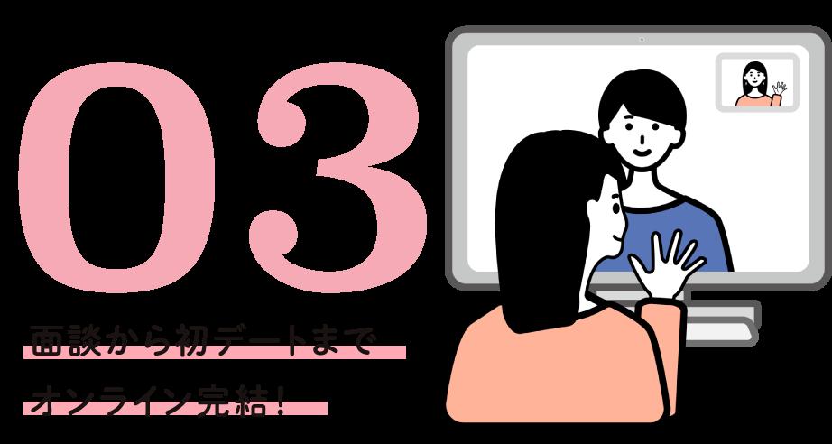 03 面談から初デートまでオンライン完結