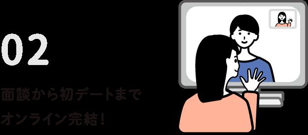面談から初デートまでオンライン完結!